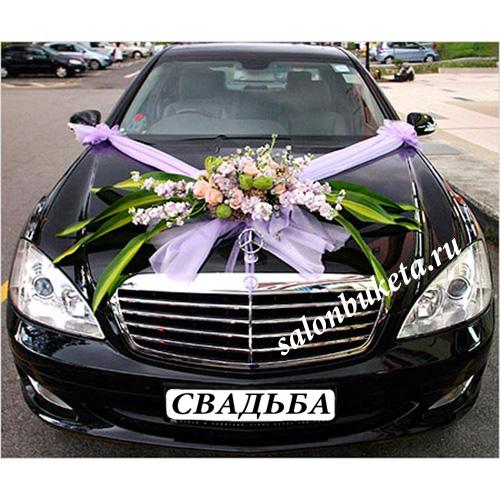 Украшение свадебной машины 06